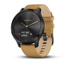 Garmin vívomove Optic Premium Black, Tan band (velikost Unisex)
